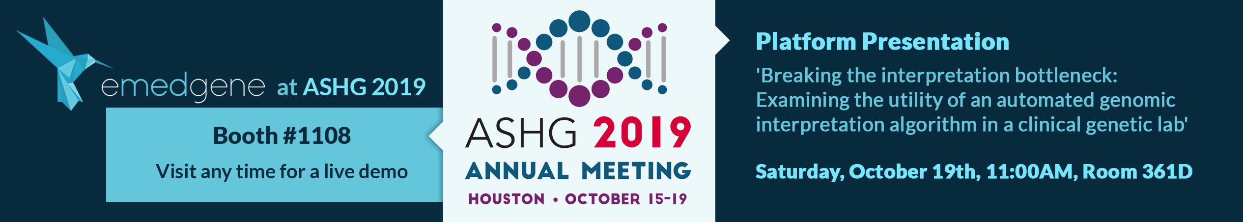 Meet us at ASHG