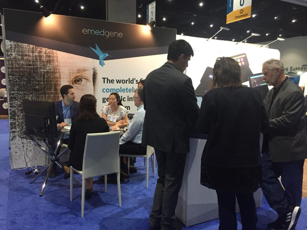 Emedgene booth at ASHG18 crowd