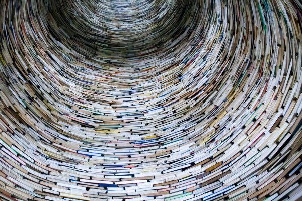 A tunnel of books